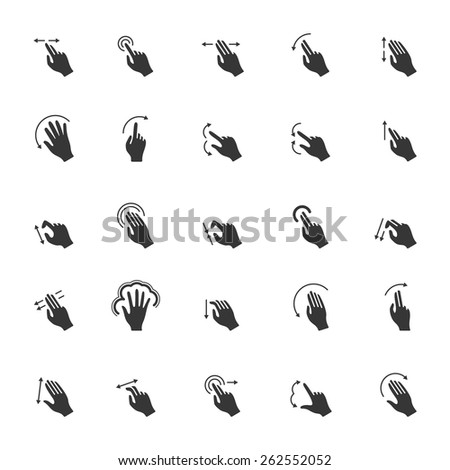 Touch Gestures icons  - stock vector
