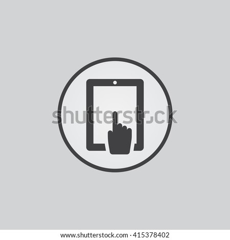 touch screen icon, touch screen icon vector,touch screen , touch screen flat icon, touch screen icon eps, touch screen icon jpg, touch screen icon path, touch screen icon flat, touch screen icon app - stock vector