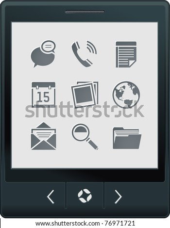 touch screen tablet PC with interface icons