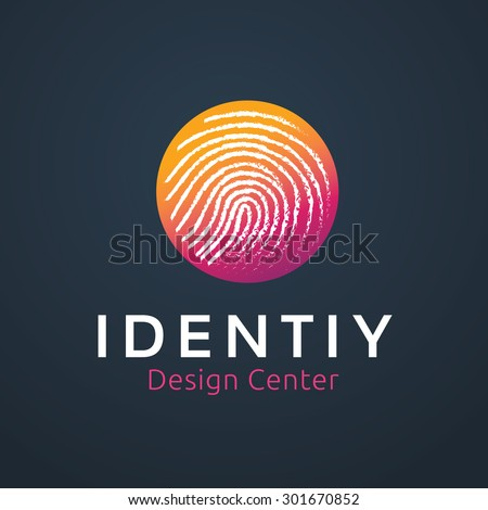 Touch screen technology abstract vector logo design template. Hand finger creative concept logotype symbol icon.