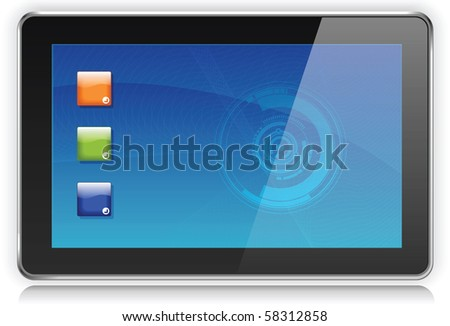 Touchpad or Tablet PC - stock vector