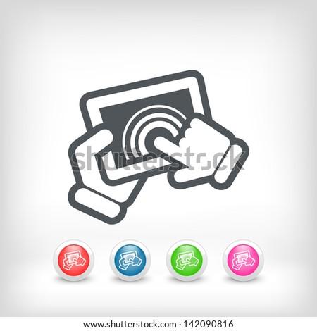 Touchscreen action icon - stock vector