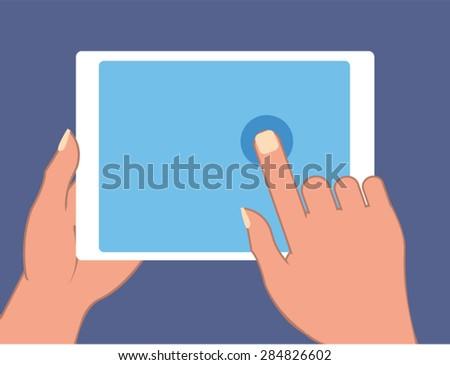 Touchscreen pad Vector - stock vector