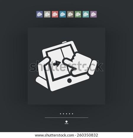Touchscreen sliding icon - stock vector