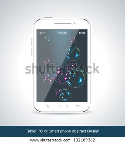 Touchscreen smartphone isolated on white background - stock vector