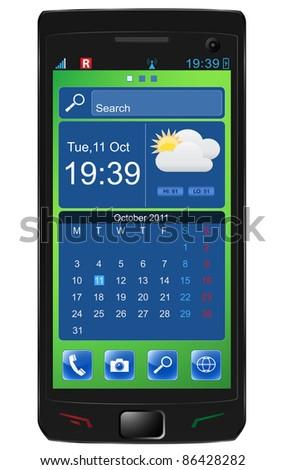 Touchscreen smartphone. Vector - stock vector
