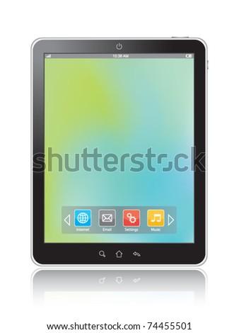 Touchscreen Tablet - stock vector