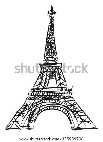 tour eiffel illustration