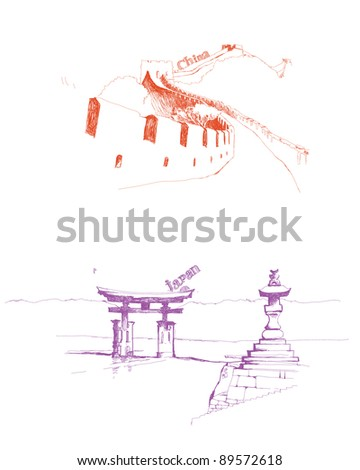tourism - stock vector