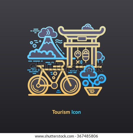 Tourism icon. Part of the travel vacation icon set.  - stock vector