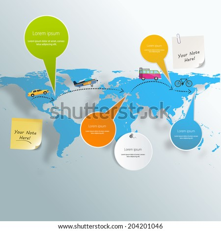 Tourism infographic elements set with world map travel destinations vector illustration  - stock vector