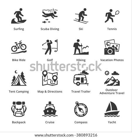 Tourism & Travel Icons - Set 4  - stock vector