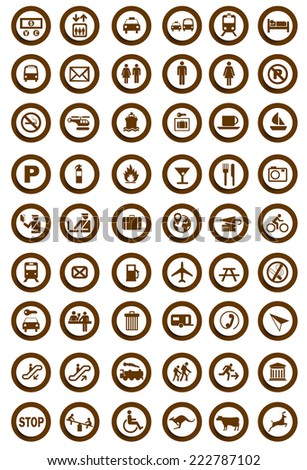 Tourist information icons - stock vector