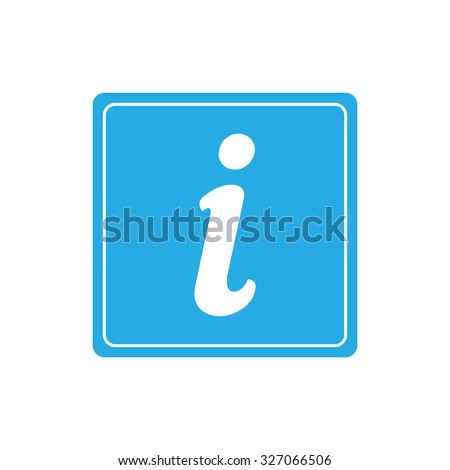 Tourist information sign - stock vector