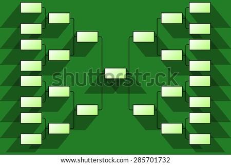 Tournament bracket - stock vector