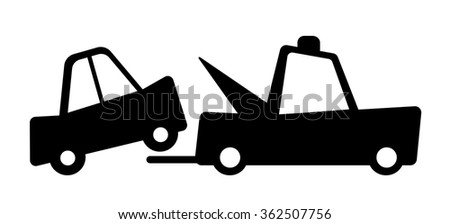 Tow away zone sign. No parking - stock vector