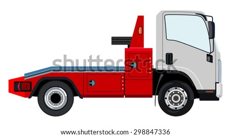 Tow truck on a white background - stock vector