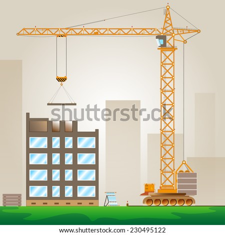 Tower Crane  - stock vector