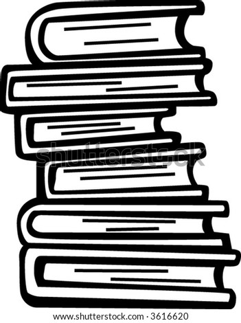 tower of books - stock vector