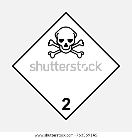 Toxic Symbol Black And White Toxic Gases ADR Black ...