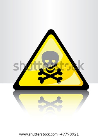 toxic sign - stock vector