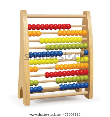 Toy Abacus - stock vector