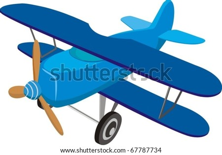 toy airplane - stock vector