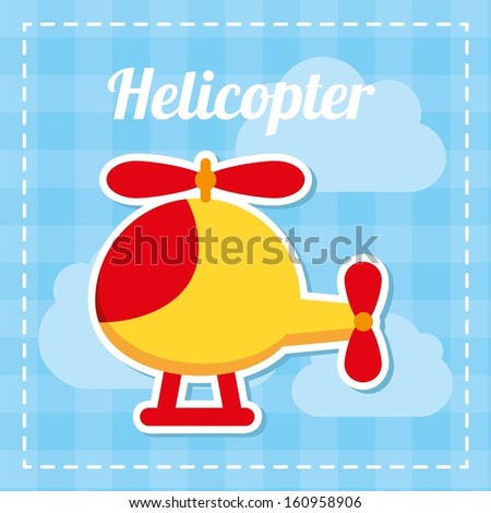 toy baby design over blue background vector illustration - stock vector