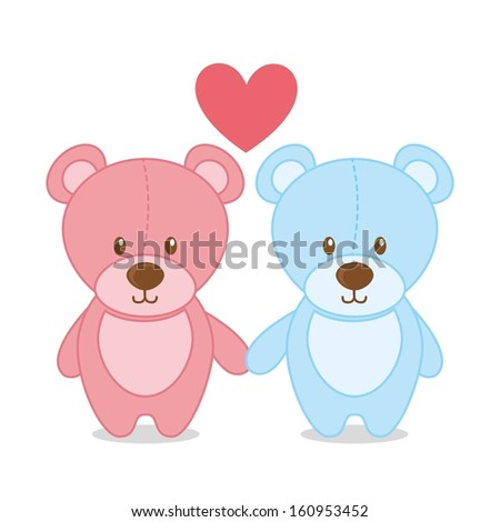toy baby design over white background vector illustration - stock vector