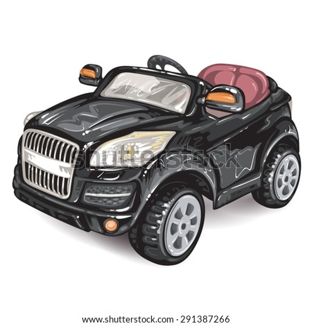 Toy car for kids - stock vector