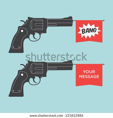 toy gun illustration - stock vector
