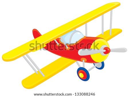 Toy plane - stock vector