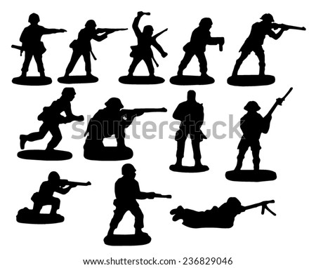 Toy soldiers - stock vector