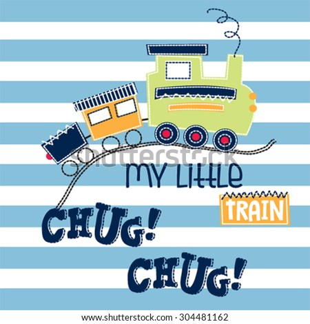 toy train on striped background vector illustration - stock vector
