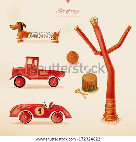 Toys. Eps 10 - stock vector