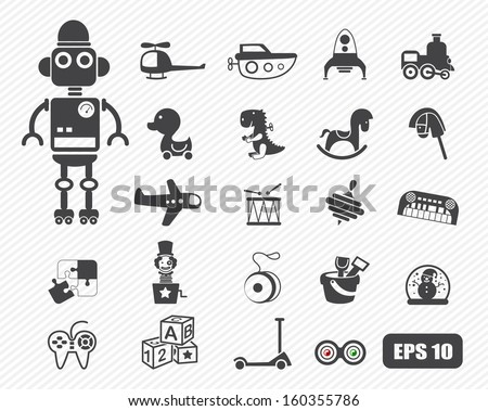 Toys icon vector - stock vector