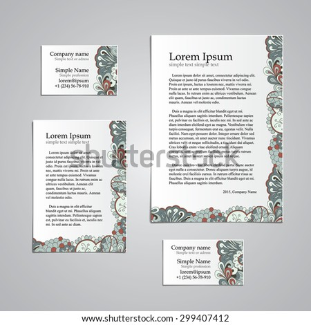 Tracery card business hina mehndi design stock vector 299407412 tracery card business hina mehndi design set natural mood handmade business tracery card colourmoves