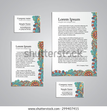 Tracery card business hina mehndi design stock vector 299407415 tracery card business hina mehndi design set natural mood handmade business tracery card colourmoves