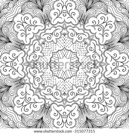 tileable carpet texture concrete ground tracery seamless calming pattern mehendi design neat even binary harmonious doodle carpet texture seamless calming pattern design stock vector