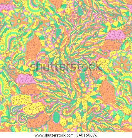 Tracery seamless calming pattern. Mehendi design. Neat even pastel harmonious doodle texture. Algae sea motif. Indifferent discreet. Ambitious bracing usable, curved doodling mehndi. Vector.