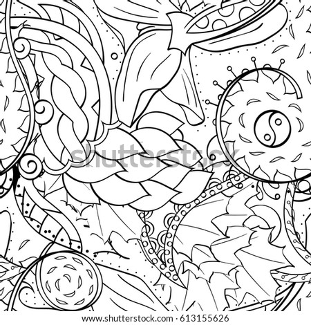 Coloring Page Enchanted Fairy Stock Illustration 442203622