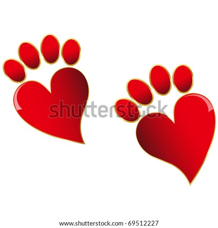 Traces of Love.Vector - stock vector