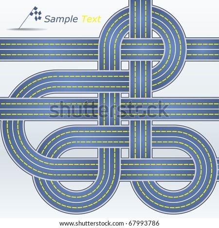Track - stock vector