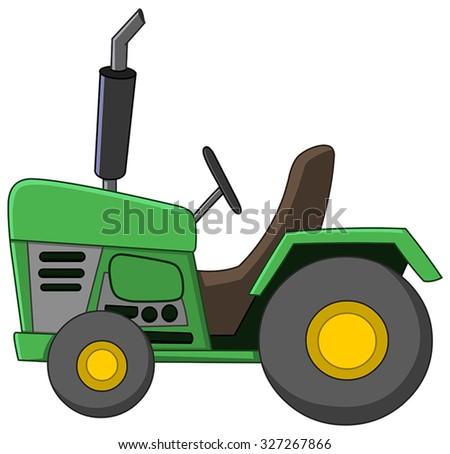 Tractor cartoon - stock vector
