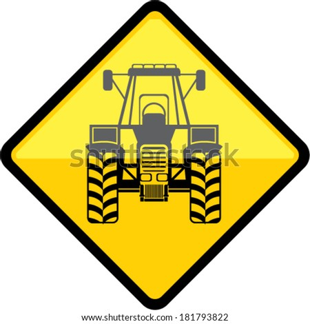 Tractor Sign - stock vector