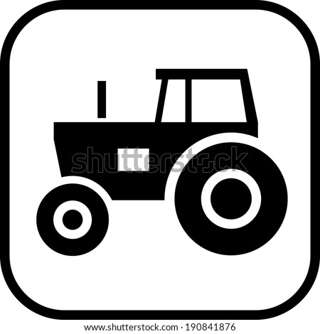 Tractor vector icon - stock vector