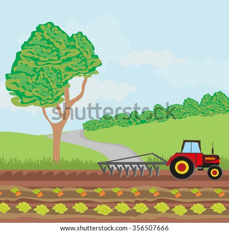 tractors and agricultural affairs. - stock vector