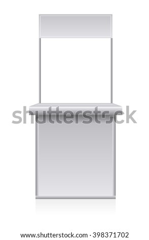 Trade display isolated on white background - stock vector