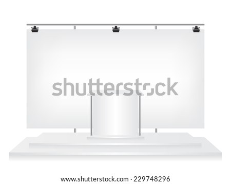 Trade exhibition stand - stock vector