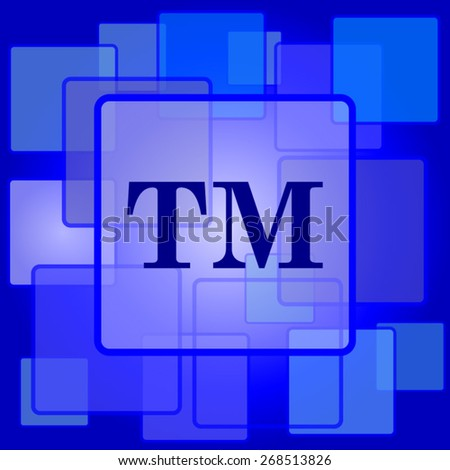 Trade mark icon. Internet button on abstract background.  - stock vector